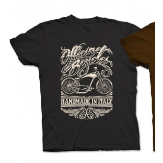 T-SHIRT Officine Bcycles Chopper Nera
