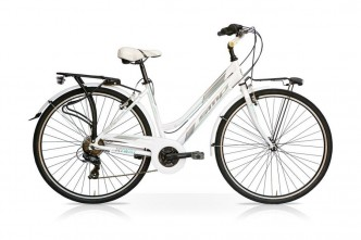 Bicicletta MY WAY 28 Donna 21V Bianco Tiffany Mercurius