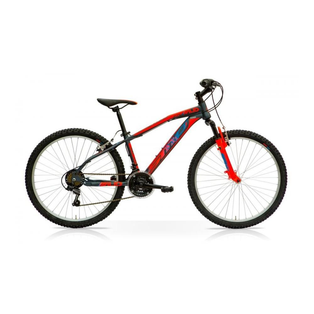 Bicicletta MTB MUD 27.5 Front 21V Shimano Nero Rosso